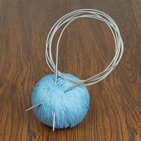 Спицы для вязания, круговые с металлической леской, d=2,5мм, 200см Ош