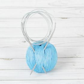 Спицы для вязания, круговые с металлической леской, d=3,5мм, 200см Ош