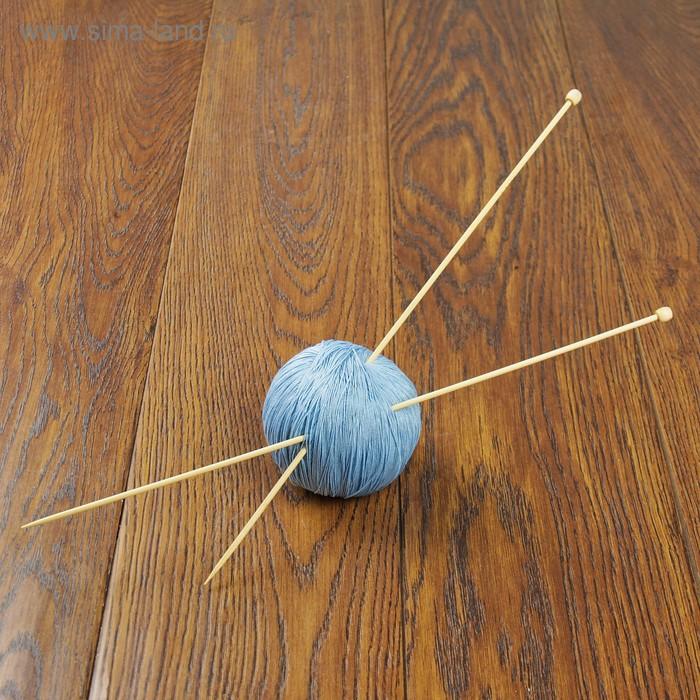 Спицы для вязания, BL2, прямые, с наконечником, d=3мм, 35см, 2шт
