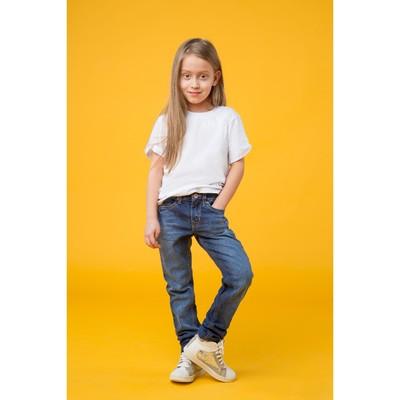 Джинсы для девочки, рост 164 см, цвет синий 8115 3570