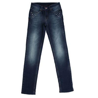 Джинсы для девочки, рост 122 см, цвет синий 8115 C
