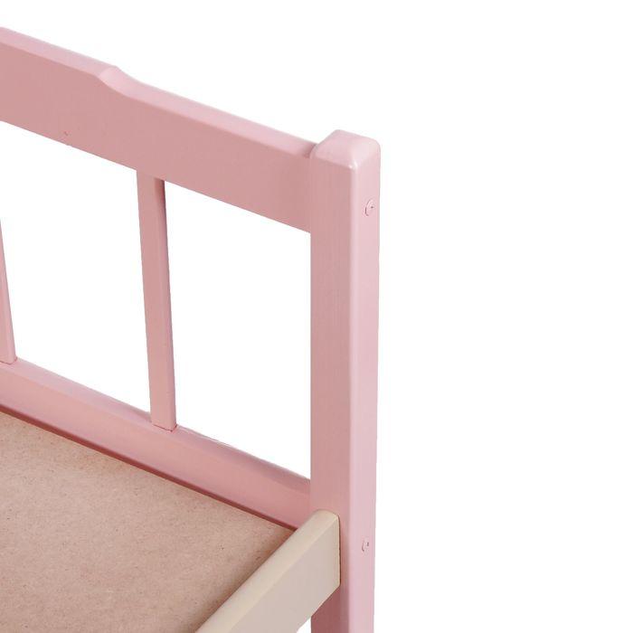 Детская кроватка «Стандарт» из массива, цвет бежевый-розовый