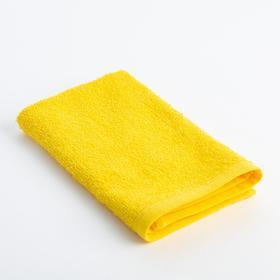 Полотенце махровое 'Экономь и Я' 30х30 см жёлтый, 100% хлопок, 340 г/м2 Ош