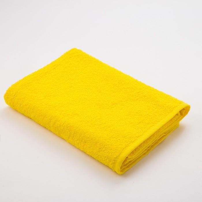 Полотенце махровое «Экономь и Я», размер 50х90 см, цвет жёлтый