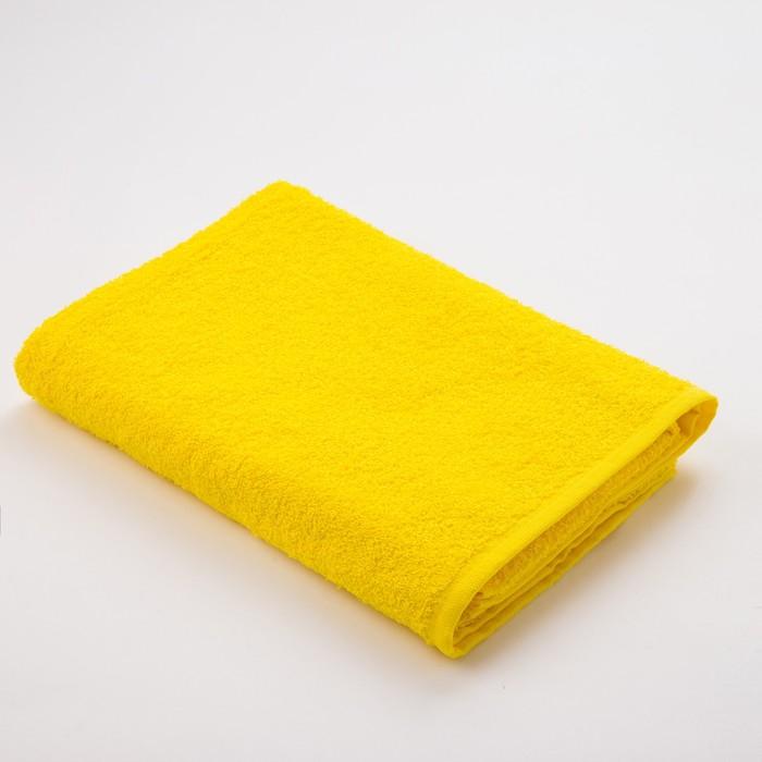 Полотенце махровое «Экономь и Я», размер 70х130 см, цвет жёлтый