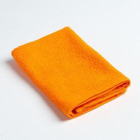 Полотенце махровое 'Экономь и Я' 30х30 см оранжевый, 100% хлопок, 340 г/м2 Ош
