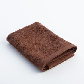 Полотенце махровое 'Экономь и Я' 30х30 см шоколад, 100% хлопок, 340 г/м2 Ош