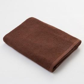 Полотенце махровое Экономь и Я 50х90 см, цв. шоколад, 320 г/м²