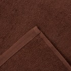Полотенце махровое «Экономь и Я», размер 70х130 см, цвет шоколад - фото 1396104