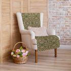 """Накидка на кресло """"Этель"""" Узор, размер 70х160 см"""