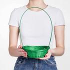 Basket, wicker, bamboo, green, low