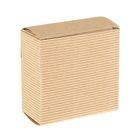 Коробка крафт из рифлёного картона, 8 х 8 х 4 см