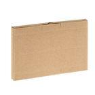 Коробка крафт из рифлёного картона, 18,5 х 13,3 х 1,5 см
