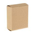 Коробка крафт из рифлёного картона, 13 х 11 х 5 см