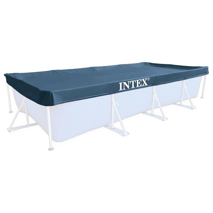 Тент на каркасный бассейн, прямоугольный 460х226х20 см 28039 INTEX