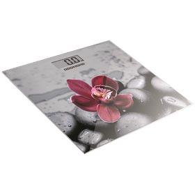 """Весы напольные Redmond RS-733, электронные, до 180 кг, рисунок """"орхидея"""""""