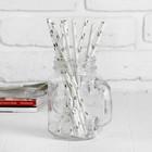 """Трубочка для коктейля """"Круги"""", набор 12 шт., цвет серебряный"""