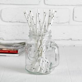 Трубочка для коктейля «Сердечки», набор 12 шт., цвет серебряный