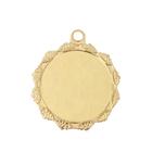 Медаль под нанесение 068 диам 3,2 см. Цвет зол