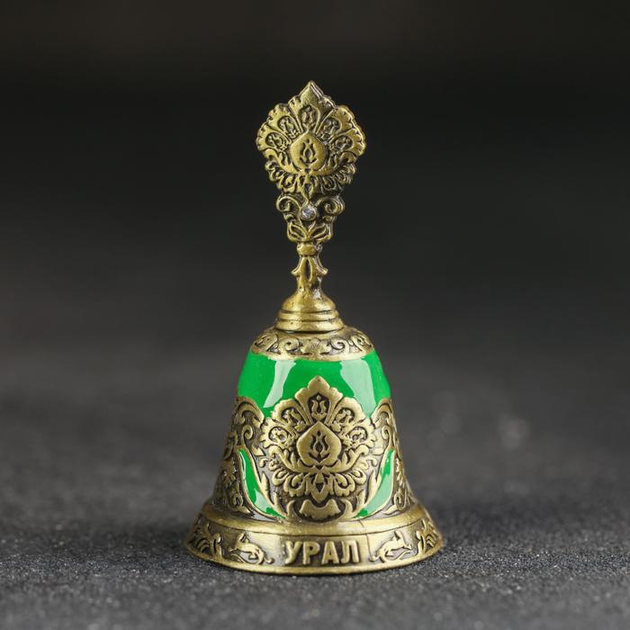 Колокольчик «Урал», под латунь, цветная эмаль