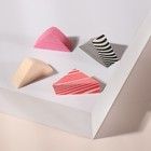 """Set of sponges for the application of cosmetics """"Triangles"""", 4 PCs, MIX color"""