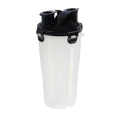 Шейкер 700 мл, с сеточкой, доп. контейнер-2 шт., крышка чёрная, белый, 11.5х23 см