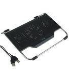 Подставка для охлаждения ноутбука, 3 кулера, Hub 2 USB, черный