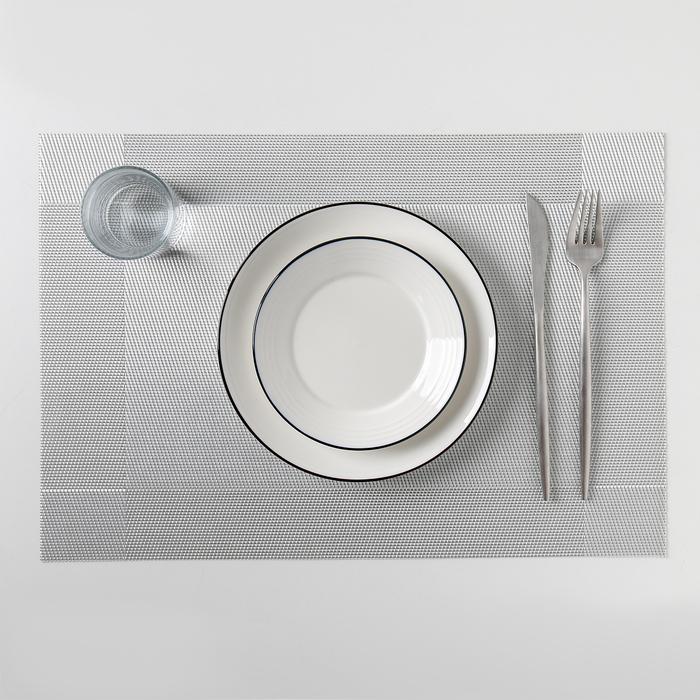"""Салфетка кухонная 45х30 см """"Шахматы"""", цвет серый"""