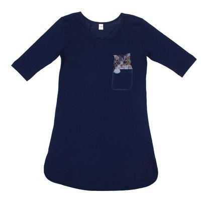 Платье женское, размер 52, цвет синий, принт микс