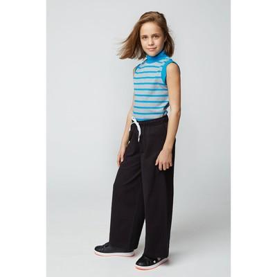 Брюки спортивные для девочки, рост 122-128 см (34), цвет чёрный