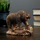 "Статуэтка ""Медведь хозяин тайги"" 10 × 15 бронза"