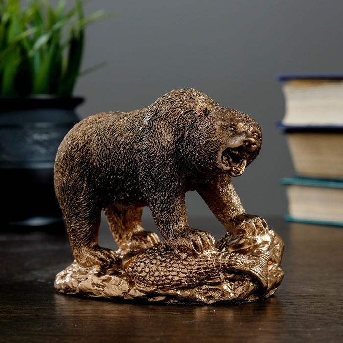 """Фигура """"Медведь хозяин тайги"""" 10×13 бронза"""