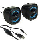Акустическая система 2.0 CBR CMS 333, 2х3Вт, USB, черные/голубые