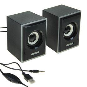 Компьютерные колонки 2.0 CBR CMS 408, 2х3 Вт, USB, черно-серые