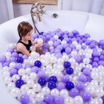Шарики для сухого бассейна с рисунком, диаметр шара 7,5 см, набор 500 штук, цвет прозрачный