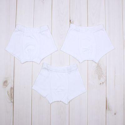 Комплект трусов-боксеров для мальчика (3 шт.), рост 134-140 см, цвет белый 726-AZ