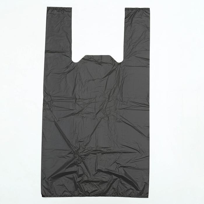 Мешки для мусора с ручками со скотч-клапаном 35 л, ПНД, толщина 10 мкм, 50 шт, цвет чёрный