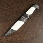 Dagger gift, white panels, a handle in the shape of a eagle head, 21 cm