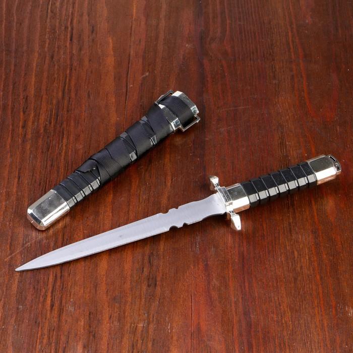 Сувенирный кортик, 28 см, рукоять и ножны с рёбрами