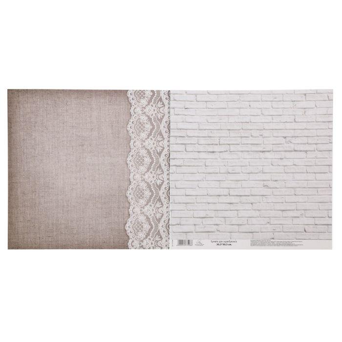 Бумага для скрапбукинга «Кружево», 30.5 × 30.5 см, 180 г/м