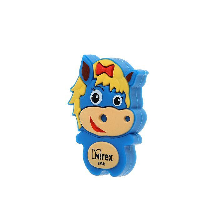 """Флешка Mirex HORSE BLUE, 8 Гб, USB2.0, """"лошадь"""", чт до 25 Мб/с, зап до 15 Мб/с"""