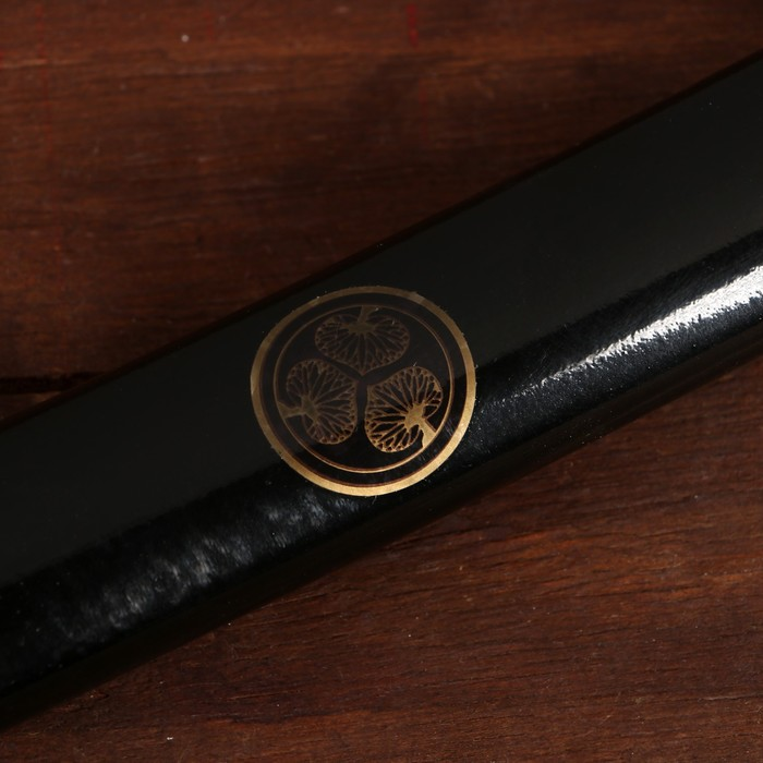 Сувенирное оружие «Катана», чёрные ножны, золотистая обмотка, 102 см