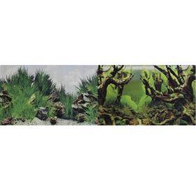 Фон для аквариума двухсторонний Мангровая коряга/Подводный рельеф 60х150см (9098/9030)