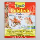 Корм Goldfish для золотых рыб, хлопья, пакет, 12 г.