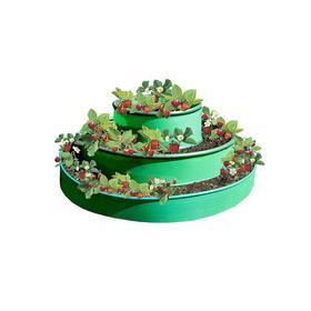 Грядка гибкая, 3 яруса, d = 50-90-130 см, h = 75 см, зелёная