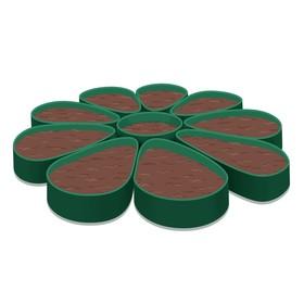Клумба гибкая, S = 1,7 м², h = 12 см, зелёная