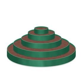 Клумба гибкая, 5 ярусов, d = 40 – 60 – 80 – 100 – 120 см, h = 60 см, зелёная