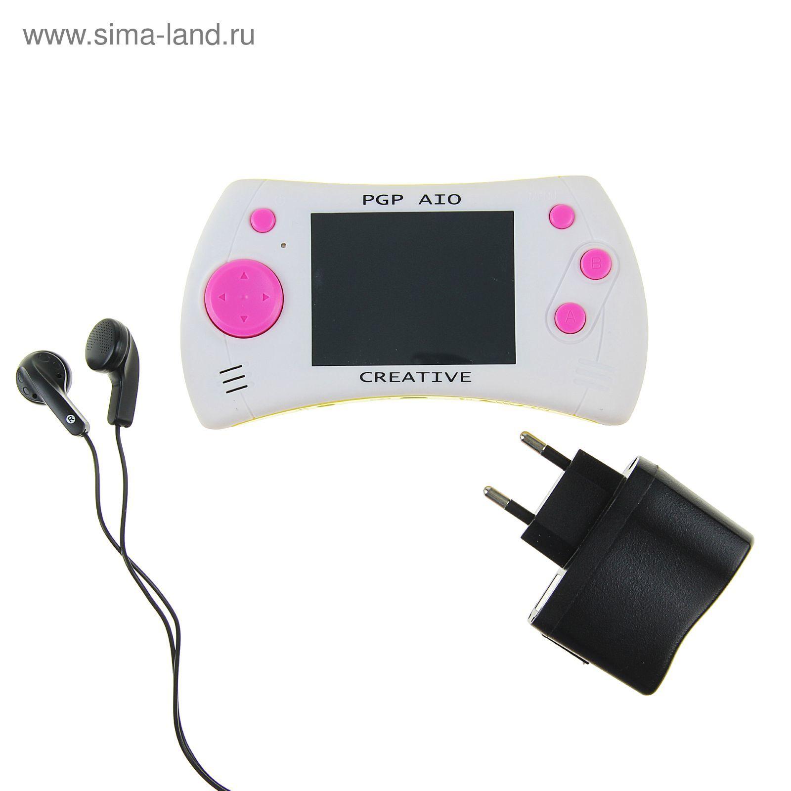 c4c6ea1896dea Игровая приставка PGP AIO Creative 2,8'' Touch, + 100 игр, 32 bit, белая