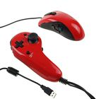 Игровой контроллер с мышью проводной Frag FX Piranha, для PS3, красный