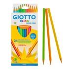 Карандаши 24 цвета GIOTTO Elios Tri 7.5/3.3 мм, трёхгранные пластиковые 275900